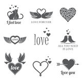 Grupo do tema do amor Imagem de Stock Royalty Free