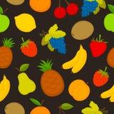Grupo do teste padrão de fruto do vetor Fotografia de Stock Royalty Free