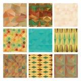 Grupo do teste padrão do fundo do triângulo, textura ilustração royalty free