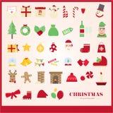 Grupo do teste padrão do Natal Imagem de Stock Royalty Free