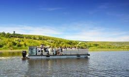 Grupo do turista no delta de Danúbio Imagem de Stock