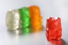 Grupo do urso de Gummi fotografia de stock