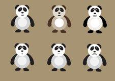 Grupo do urso de panda Fotografia de Stock