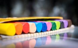 Grupo do vax dos pastéis dos lápis Foto de Stock Royalty Free