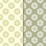 Grupo do verde azeitona de testes padrões sem emenda florais Imagem de Stock Royalty Free