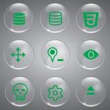 Grupo do verde do ícone Fotografia de Stock