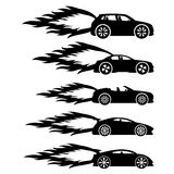 Grupo do vetor Carros rápidos Imagens de Stock