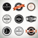 Grupo do vetor com selos e selos Imagens de Stock Royalty Free