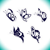 Grupo do vetor da borboleta Fotografia de Stock Royalty Free