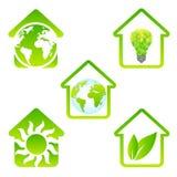 Grupo do vetor da casa de Eco Imagem de Stock Royalty Free