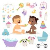 Grupo do vetor da criança do bebê Fotos de Stock Royalty Free