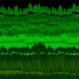 Grupo do vetor da floresta Fotografia de Stock