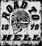 Grupo do vetor da motocicleta do vintage grupo do vetor do velomotor dos cavaleiros do crânio Fotos de Stock Royalty Free