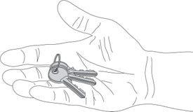 Grupo do vetor das chaves ilustração royalty free