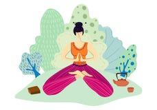 Grupo do vetor das meninas da ioga ilustração do vetor