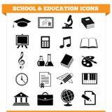 Ícones da escola e da educação Foto de Stock Royalty Free