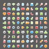 Grupo do vetor de 100 ícones da etiqueta Fotos de Stock Royalty Free
