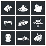 Grupo do vetor de ícones do medo ilustração royalty free