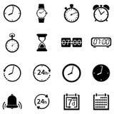 Grupo do vetor de 16 ícones do tempo Imagens de Stock Royalty Free