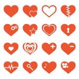Grupo do vetor de ícones dos corações ilustração royalty free