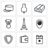 Grupo do vetor de ícones franceses da legião ilustração stock