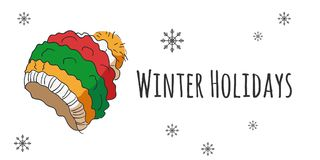 Grupo do vetor de acessórios do inverno Fotos de Stock Royalty Free