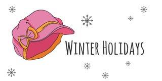 Grupo do vetor de acessórios isolados do inverno Imagem de Stock Royalty Free