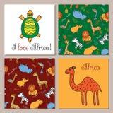 Grupo do vetor de animais africanos Imagem de Stock Royalty Free
