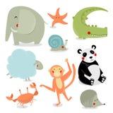 Grupo do vetor de animais dos desenhos animados fotografia de stock royalty free