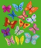 Grupo do vetor de borboletas coloridas. Foto de Stock Royalty Free
