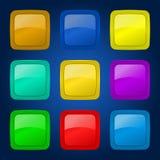 Grupo do vetor de botões. Fotos de Stock