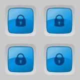 Grupo do vetor de botões com fechamentos Fotografia de Stock