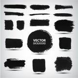 Grupo do vetor de cursos da escova da tinta Fotos de Stock