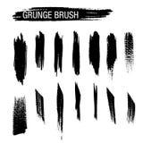 Grupo do vetor de cursos da escova do grunge Imagens de Stock Royalty Free