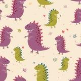 Grupo do vetor de dinossauro Imagem de Stock Royalty Free