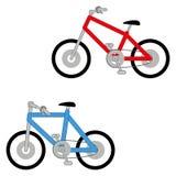 Grupo do vetor de duas bicicletas diferentes isoladas Ilustração do Vetor