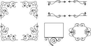 Grupo do vetor de elementos caligráficos do projeto Fotos de Stock Royalty Free