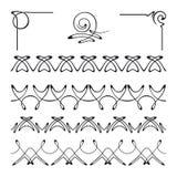 Grupo do vetor de elementos decorativos Imagens de Stock Royalty Free
