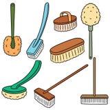 Grupo do vetor de escova do toalete ilustração stock
