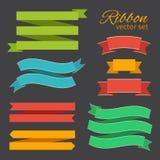 Grupo do vetor de estilo do vintage das fitas do negócio para o projeto ilustração stock