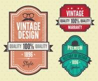 Grupo do vetor de etiquetas do vintage ilustração royalty free