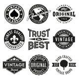 Grupo do vetor de etiquetas do vintage Fotografia de Stock