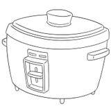 Grupo do vetor de fogão de arroz ilustração stock