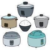 Grupo do vetor de fogões de arroz ilustração stock