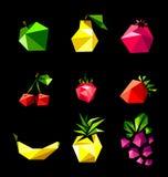 Grupo do vetor de fruto Fotos de Stock Royalty Free