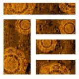 Grupo do vetor de fundo decorativo floral, projeto do quadro do molde Imagens de Stock Royalty Free