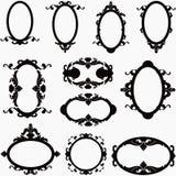 Grupo do vetor de horizontal e vertical decorativos Imagem de Stock Royalty Free
