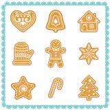 Grupo do vetor de ilustrações das cookies do Natal ilustração do vetor