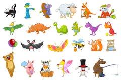 Grupo do vetor de ilustrações dos animais Foto de Stock