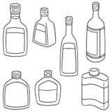 Grupo do vetor de licor ilustração stock